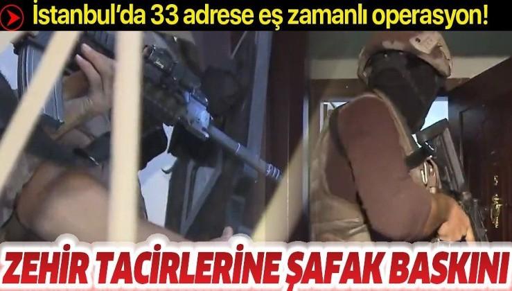 Son dakika: İstanbul'da 35 adrese eş zamanlı uyuşturucu operasyonu
