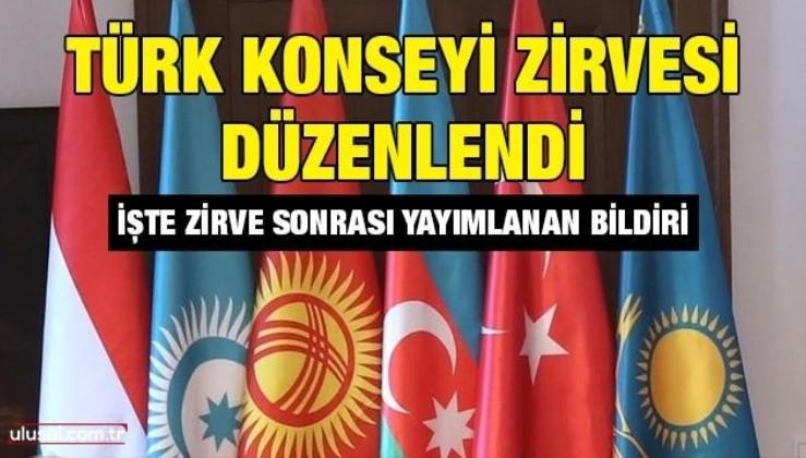 Türk Konseyi Zirvesi düzenlendi: İşte zirve sonrası yayımlanan bildiri