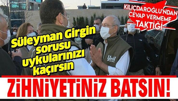 Kemal Kılıçdaroğlu'ndan Süleyman Girgin sorusuna cevap vermeme taktiği! CHP'de Pınar Gültekin davasını örtbas girişimi...