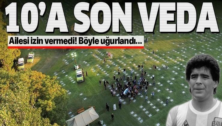 SON DAKİKA: Arjantinli efsane futbolcu Maradona son yolculuğuna uğurlandı: Binlerce taraftar orada buluştu!
