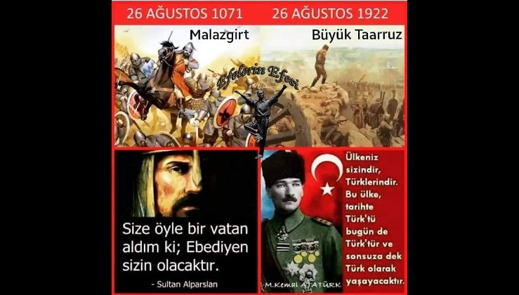 Alparslan'dan Gazi Mustafa Kemal Atatürk'e sonsuza dek!
