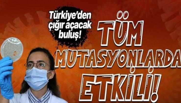 Türkiye'den koronavirüs çalışmalarında çığır açacak buluş! Tüm mutasyonlara karşı etkili!