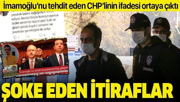 Ekrem İmamoğlu'nu tehdit eden CHP'li Tuna Görgünoğlu'ndan şoke eden itiraflar