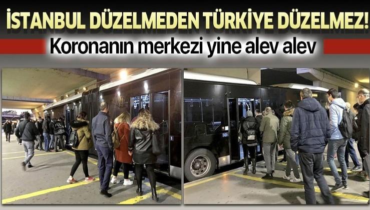 İstanbul koronavirüsün merkezi oldu! Toplu taşıma araçlarında ve duraklarda endişe yaratan yoğunluk