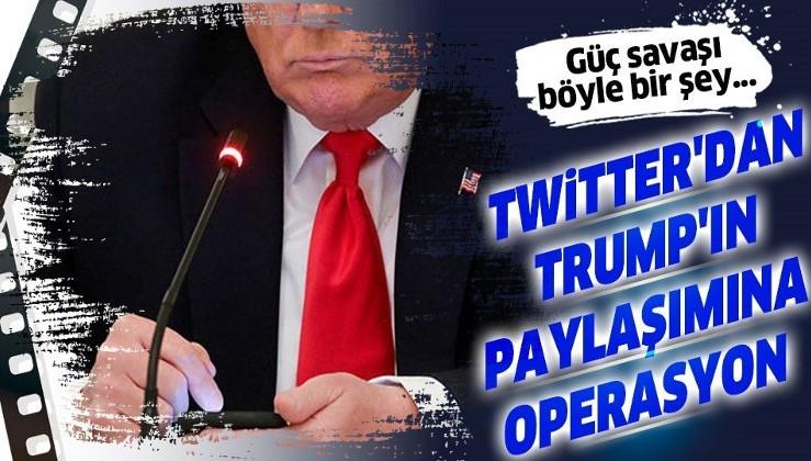 """Kavga derinleşiyor! Twitter, Trump'ın paylaşımına """"manipüle edilmiş medya"""" etiketi koydu"""