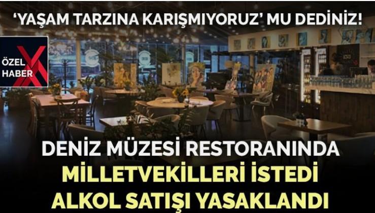 AKP ve MHP'li vekiller istedi restoranın alkol ruhsatı iptal edildi