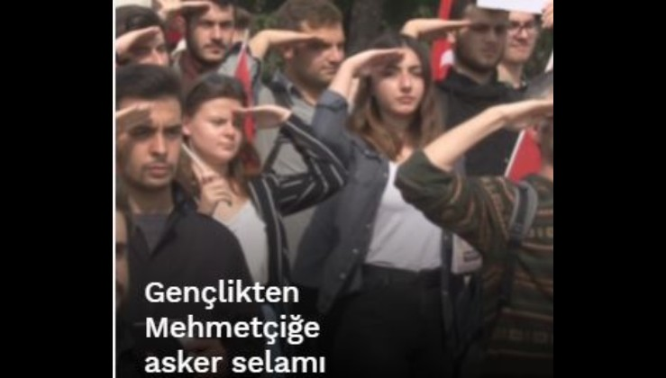 Gençlikten Mehmetçiğe asker selamı