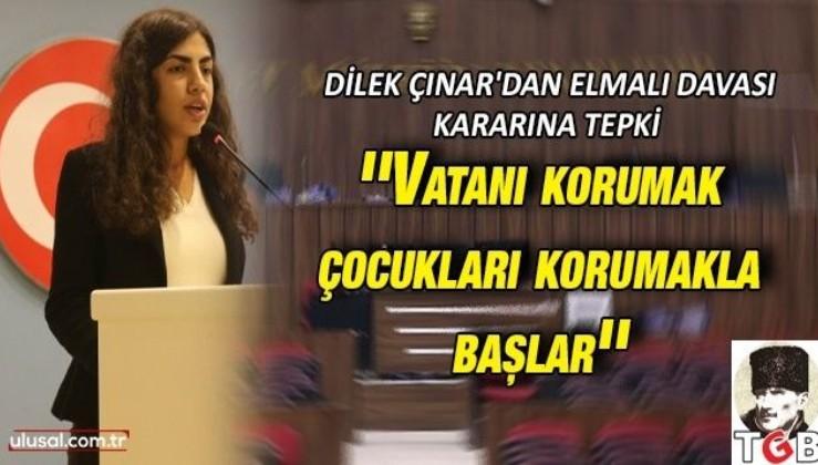 TGB Genel Başkanı Dilek Çınar'dan Elmalı Davası kararına tepki: ''Vatanı korumak çocukları korumakla başlar''