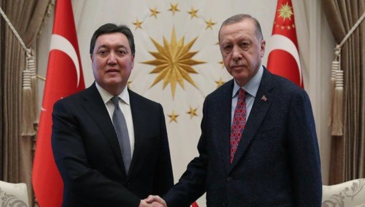 Erdoğan, Kazakistan Başbakanı Mamin'i kabul etti.