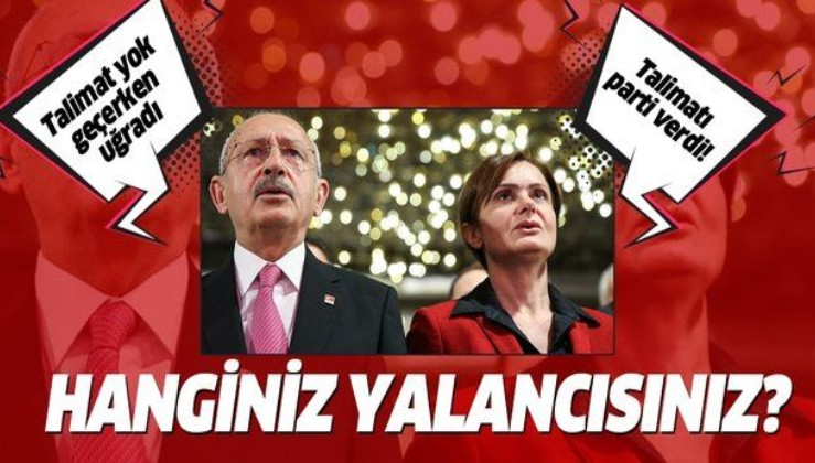 """Canan Kaftancıoğlu """"talimatı ben verdim"""" dedi, Kılıçdaroğlu """"geçerken uğramış"""" dedi! Hanginiz yalancısınız!"""