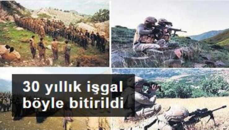 TSK, terör örgütü PKK'nın bölgedeki 30 yıllık varlığına son verdi