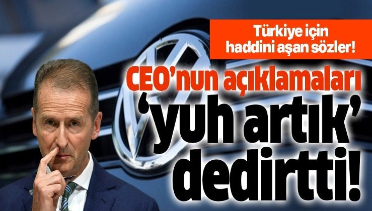 Volkswagen CEO'sundan haddini aşan Barış Pınarı Harekatı açıklaması!.