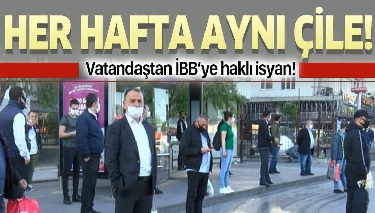İstanbul'da yine aynı manzara! Vatandaşlar ulaşıma ek sefer koymayan İBB'ye isyan etti!