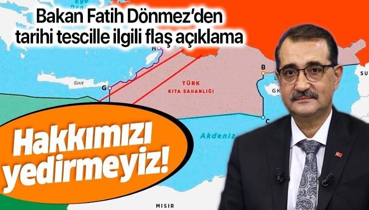 Son dakika: Bakan Dönmez'den 'Doğu Akdeniz' açıklaması: Ne kimsenin hakkını yeriz ne de hakkımızdan vazgeçeriz