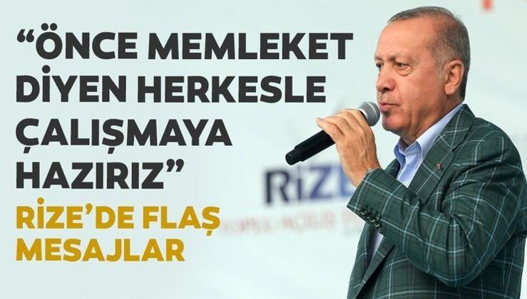 Erdoğan: Önce millet memleket diyen herkesle çalışmaya hazırız
