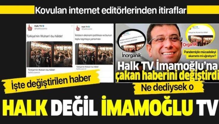 Kovulan internet editörlerinden flaş itiraflar! İBB istedi, Halk TV başlığı değiştirdi