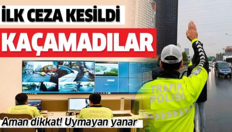 Sıkı denetim başladı! İstanbul'da 'çakar'a ceza yağdı.