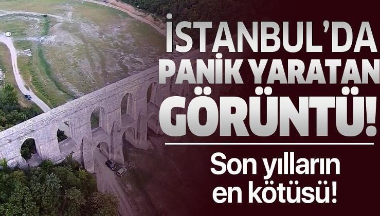 İstanbul'da panik yaratan görüntü! Kuraklık Istranca barajlarını vurdu.