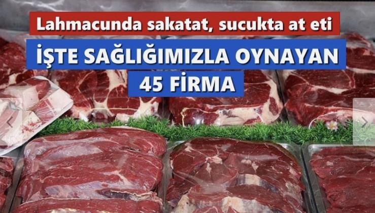 Lahmacunda sakatat, sucukta at eti… İşte sağlığımızla oynayan 45 firma!