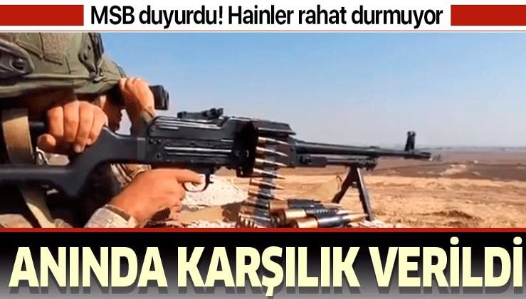 MSB duyurdu: PKK/YPG'nin taciz saldırılarına gerekli karşılık verilmiştir.