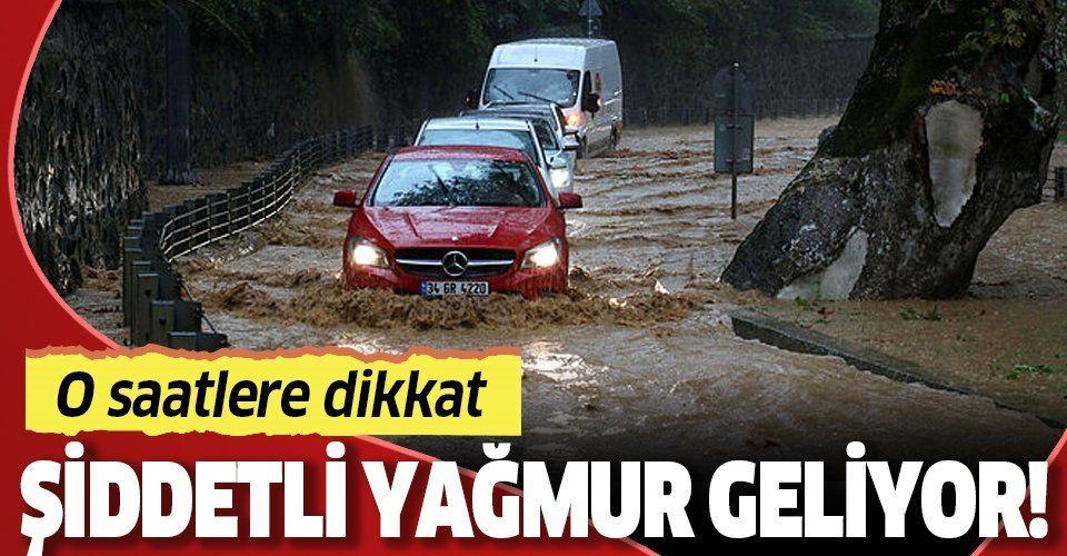 Son dakika: 14 Nisan AKOM'dan İstanbul için şiddetli yağmur uyarısı