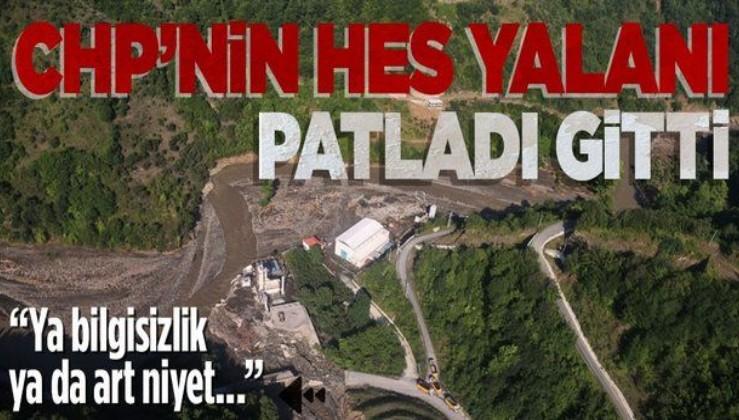 CHP Genel Başkan Yardımcısı Ali Öztunç'un 'HES' iddiasına Çevre ve Şehircilik Bakanlığı'ndan yalanlama!