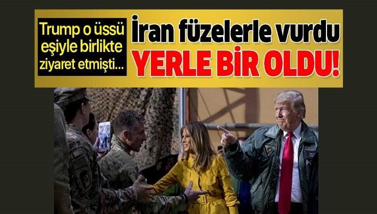 ABD Başkanı Donald Trump da ziyaret etmişti! İran'ın Erbil'de vurduğu ABD üssü yerle bir oldu...