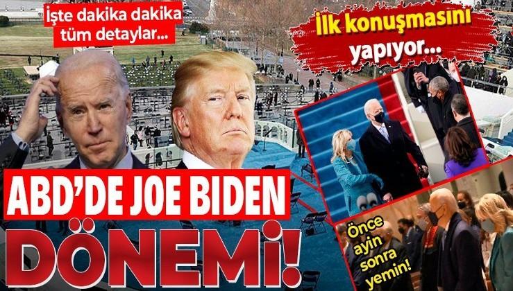ABD'nin 46. Başkanı Joe Biden kaosun gölgesinde görevi devralıyor | İşte dakika dakika Washington'dan detaylar...