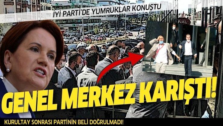 İYİ Parti Genel Merkezi'nde kavga! Partililer binayı bastı!