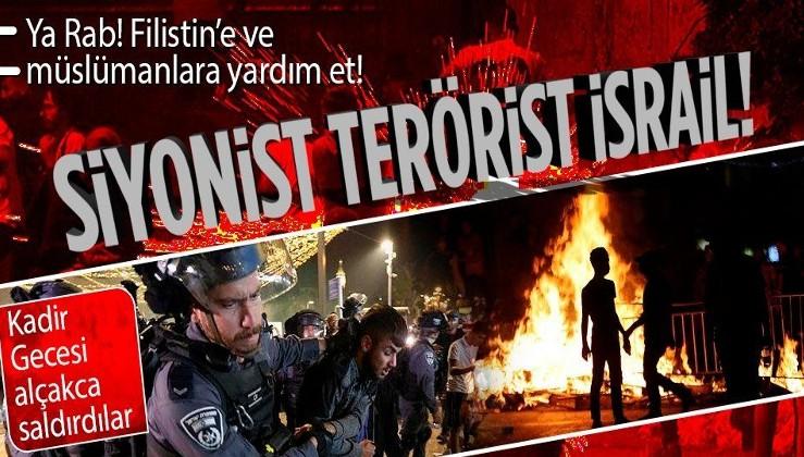 Son dakika: Siyonist terör devleti İsrail, Kadir Gecesi'nde Filistinlilere ses bombalarıyla saldırdı
