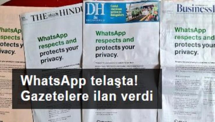 WhatsApp telaşta! Hindistan'da gazetelere ilan vermeye başladı
