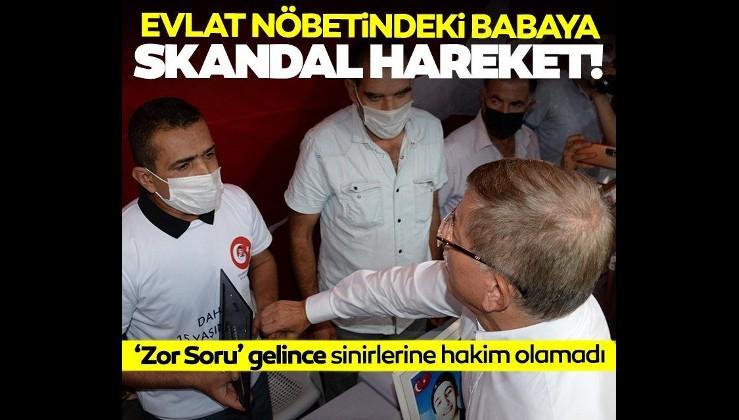 Ahmet Davutoğlu'ndan Diyarbakır'da evlat nöbetindeki babaya skandal hareket!