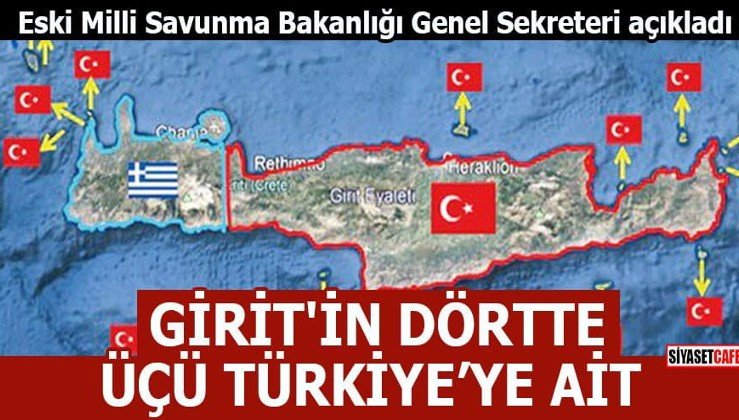 'Girit'in dörtte üçü Türkiye'ye ait'
