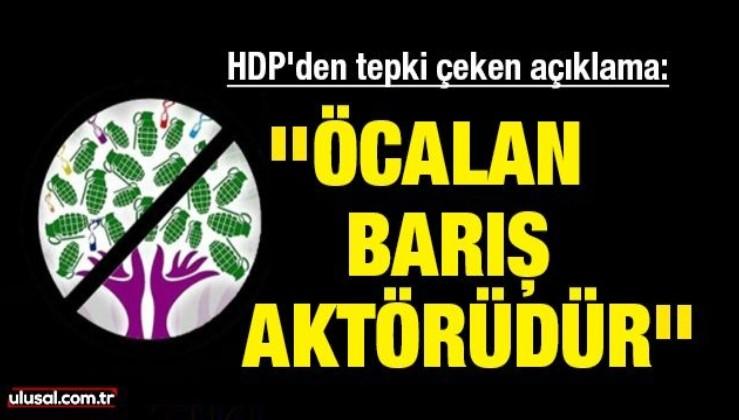 HDP'den tepki çeken açıklama: ''Öcalan barış aktörüdür''
