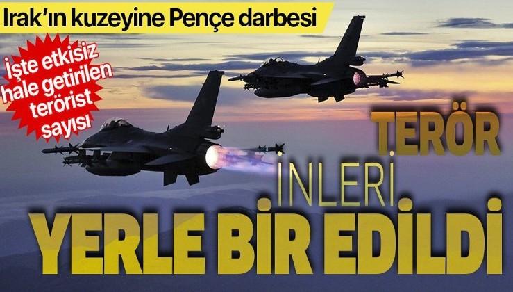 Pençe Operasyonları ile toplam 320 PKK'lı terörist etkisiz hale getirildi
