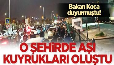 Son dakika: Sağlık Bakanı Fahrettin Koca 55 yaş üzeri için aşılama başladı dedi: Gece yarısı kuyruk oluştu
