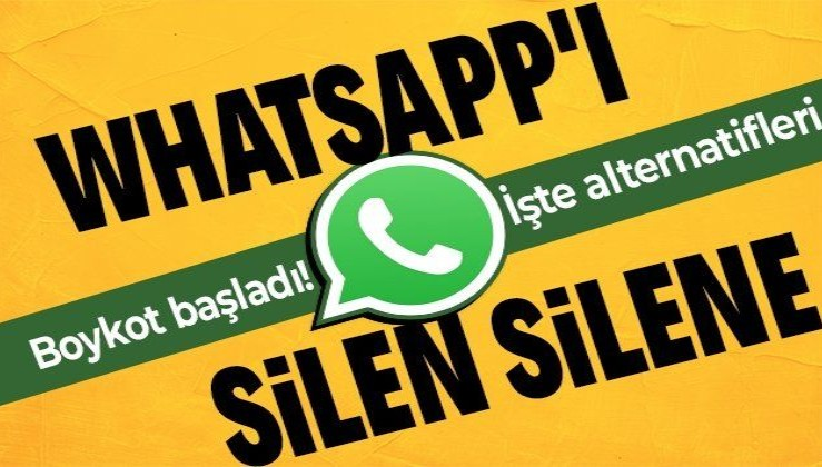 """SON DAKİKA: """"WhatsAppSiliyoruz"""" Twitter'da TT oldu! WhatsApp yerine hangi uygulamalar kullanılabilir? İşte alternatif mesajlaşma uygulamaları"""