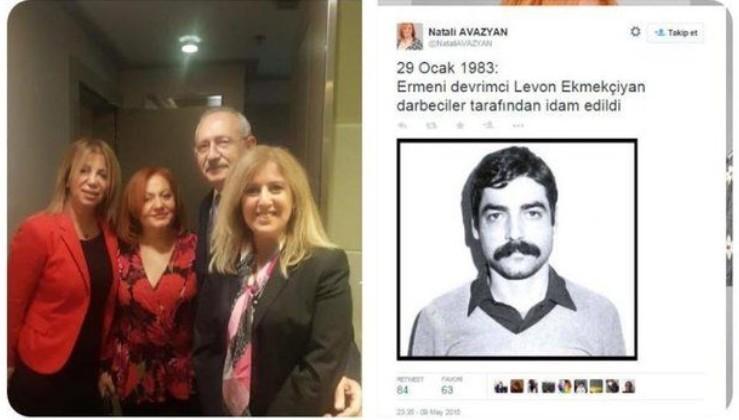Teröristbaşı Öcalan aşığı Natali Avazyan yine fitne peşinde