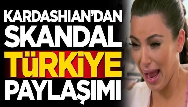 SEN KİMSİN ABD MAŞASI: Kim Kardashian'dan skandal Türkiye paylaşımı!