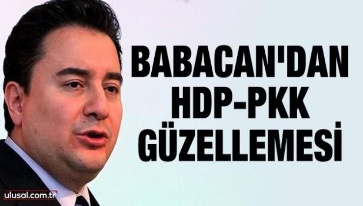 Ali Babacan'dan HDP-PKK güzellemesi