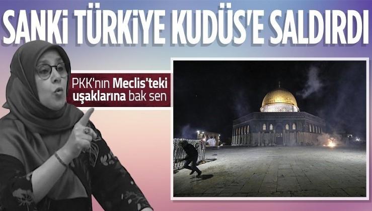 HDP İstanbul Milletvekili Hüda Kaya İsrail'in Filistin'e düzenlediği saldırı üzerinden Türkiye'ye hakaret etti
