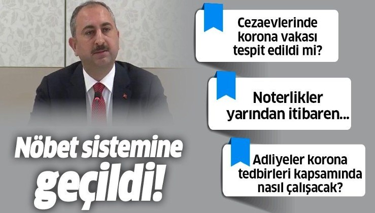 Son dakika: Adalet Bakanı Abdülhamit Gül'den koronavirüs açıklaması.