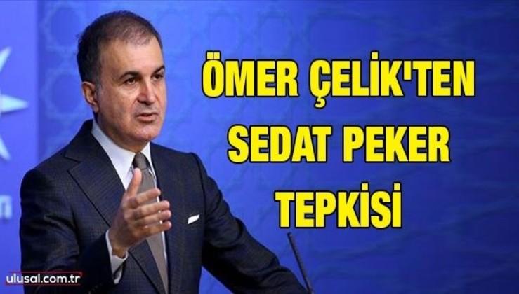 AK Parti Sözcüsü Ömer Çelik'ten Sedat Peker tepkisi: ''Muhalefet suç örgütü mensubunun ifadelerinden besleniyor''