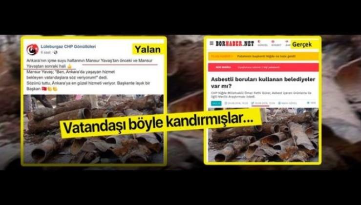 Ankara'da 'öncesi-sonrası' yalanı