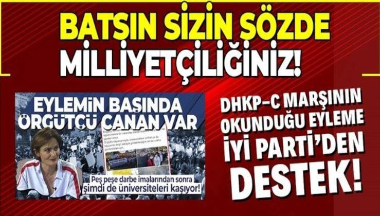 Boğaziçi Üniversitesi'ndeki DHKP-C marşı okunan skandal eyleme İYİ Parti'den destek!