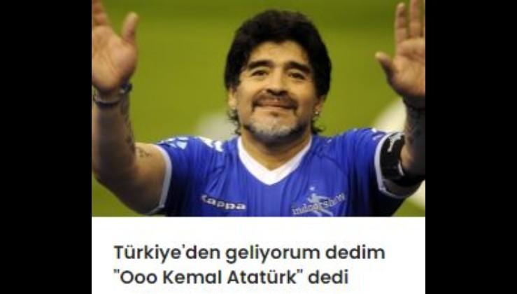 Maradona Türkiye'nin adını duyunca böyle dedi: 'Oooo, Kemal Atatürk'