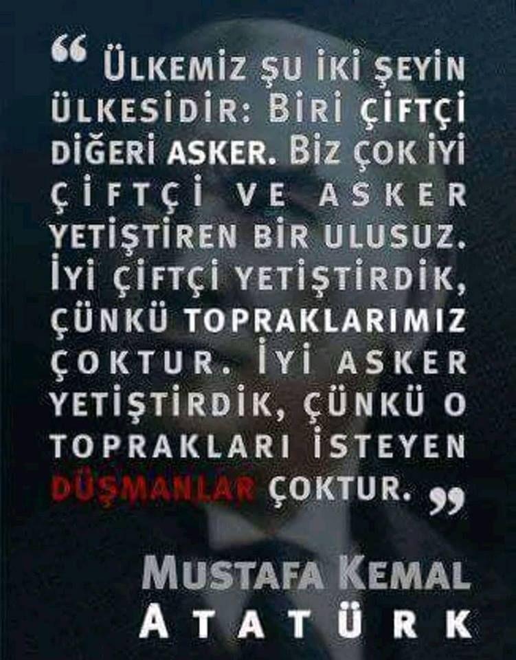 Gazi Mustafa Kemal Atatürk'ün Türk Çiftçisi Üzerine Özdeyişleri