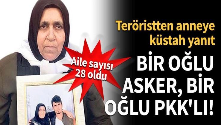 Bir oğlu asker, bir oğlu PKK'lı!