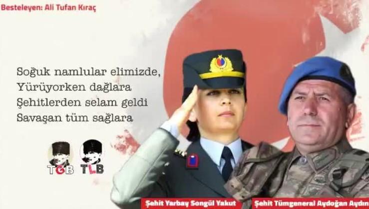 Kıraç'tan Şehit Tümgeneral Aydoğan Aydın, Şehit Yarbay Songül Yakut ve tüm şehitlerimizin anısına...