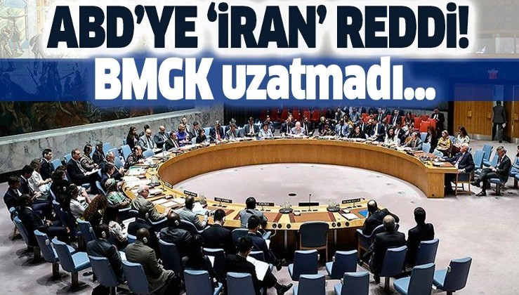 Son dakika: BMGK İran'a yönelik silah ambargosunu uzatmayı reddetti